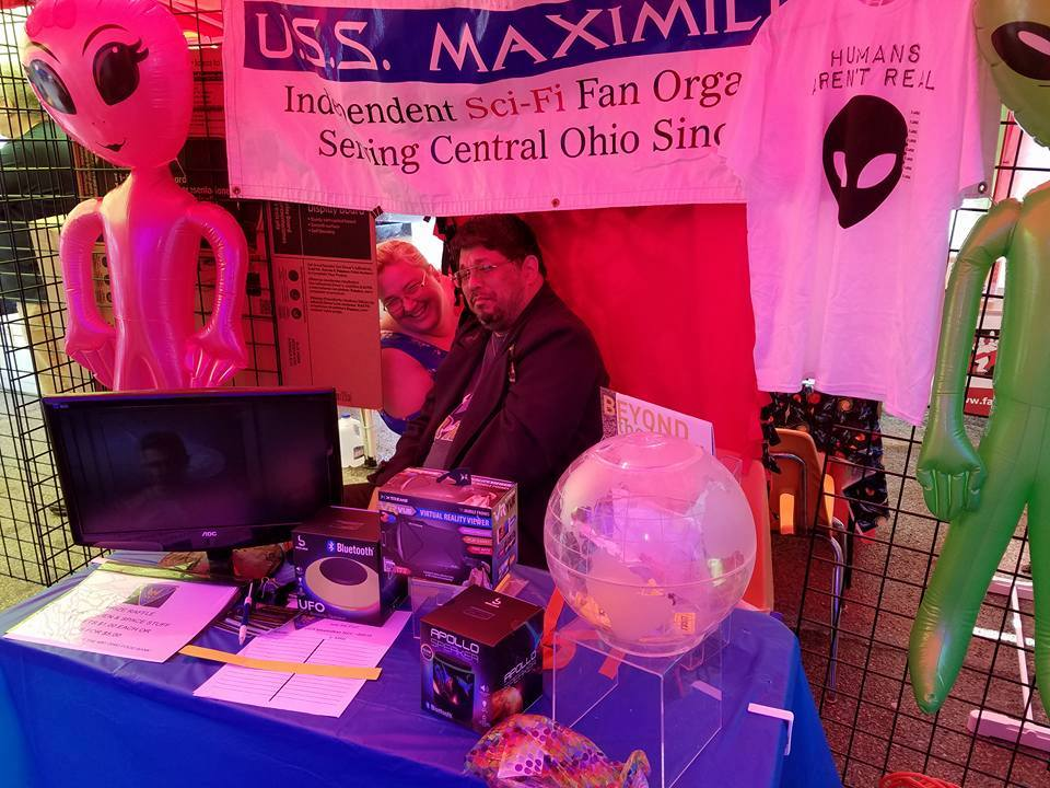 Our Booth at the Out of this World Festival