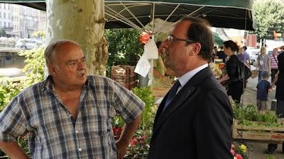 François Hollande en visite surprise à Tulle