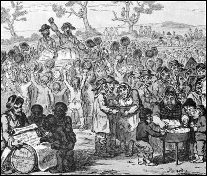 Corresponding Society Meeting by James Gillray, 1795
