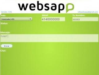 No todo está inventado en el tema de las mensajería instantánea. Lo último en llegar es WebSapp,una aplicación web que permite enviar mensajes gratis desde la computadora a los teléfonos inteligentes que disponen de WhatsApp. La aplicación se ha aprovechado de la popularidad que está teniendo WhatsApp, conocida por miles de usuarios, y que está pensada para ser utilizada sólo por smartphones. La alta penetración de dispositivos móviles como los teléfonos inteligentes y las tabletas, ha impulsado la contratación de los servicios de datos, algo que está permitiendo que múltiples servicios de chat instantáneo hagan su agosto. Whatsapp ha sido