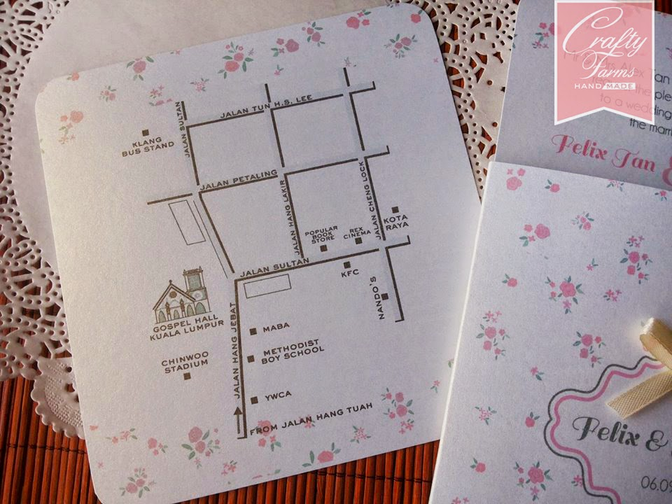 Malaysia Floral Pink Vintage Themed Square Pocket Church and Garden Wedding Card