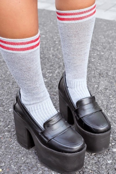 Georgina Richardss: you can't wear socks with platform ...