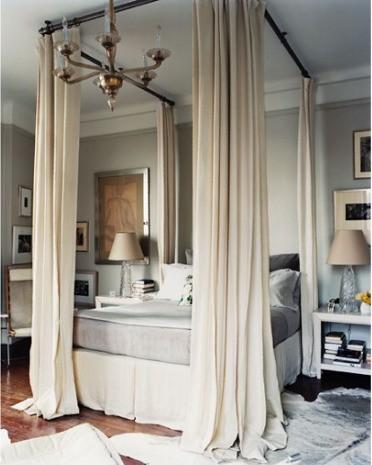 sypialnia w stylu glamour łóżko