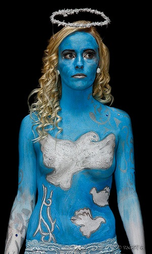 Halloween bodypaint women Costumes emma watson