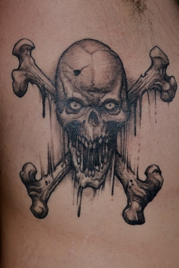 Tattoos by scott trerrotola skull and crossed bones tattoo for Skull and crossbones tattoo