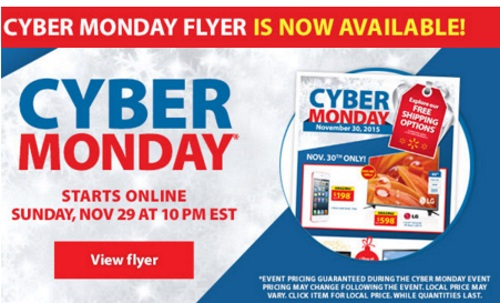 Walmart Cyber Monday Sneak Peek Flyer