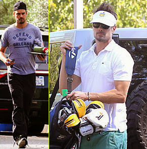 Josh Duhamel: Golf Course Fun with Male Pal!