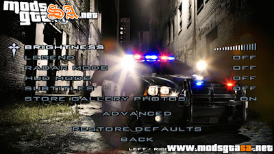 Night Menu para GTA San Andreas