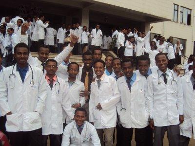 Gawening or White Coat Ceremony at Black Lion Hospital 2014