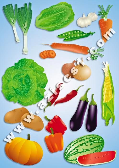 Vektor sayur-sayuran (EPS)