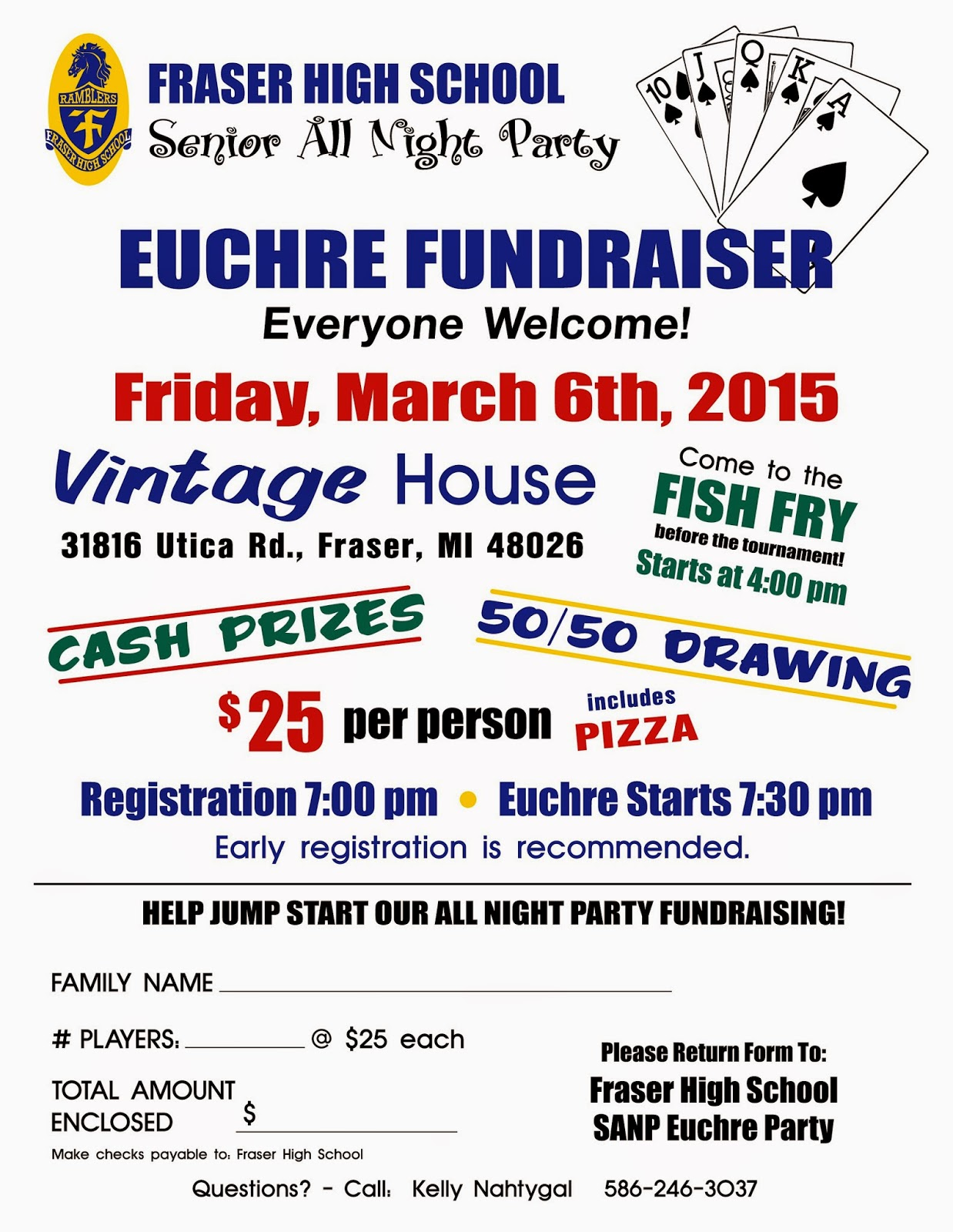 Euchre Tournament Fundraiser MI