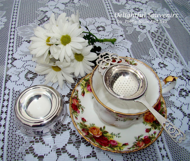 Silver Plated Tea Strainer