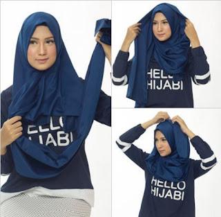 Tutorial Hijab Satin - Langkah 2