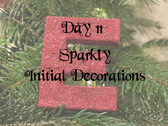 Sparkly Initial Decorations
