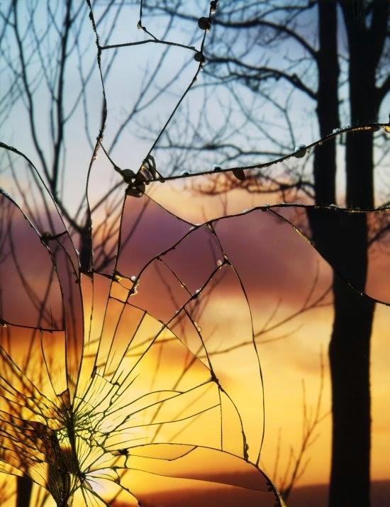 Bing Wright fotografia céus espelho quebrado broken mirror evening skies