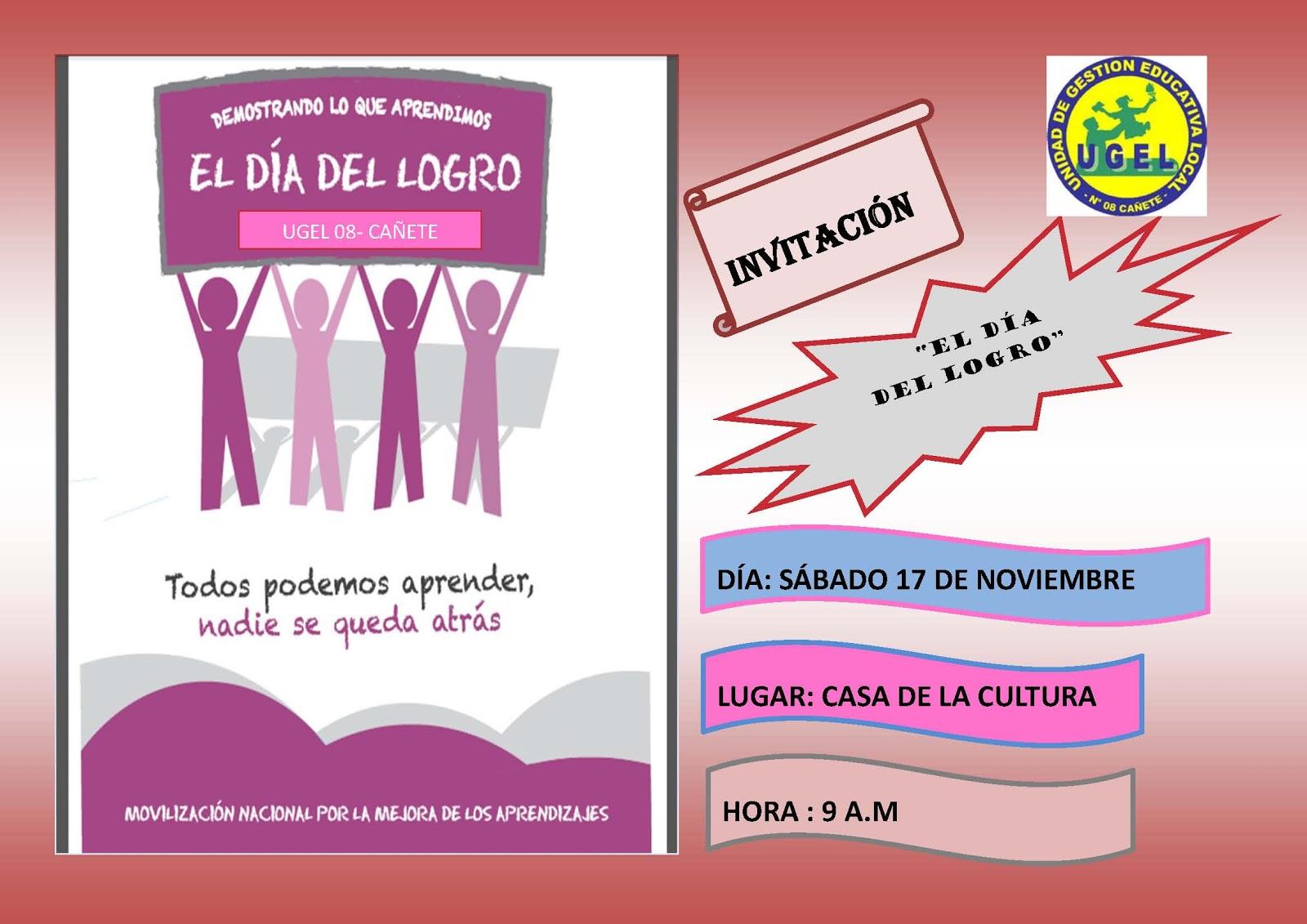 UGEL Nº 08 - CAÑETE: DÍA DEL LOGRO EDUCATIVO