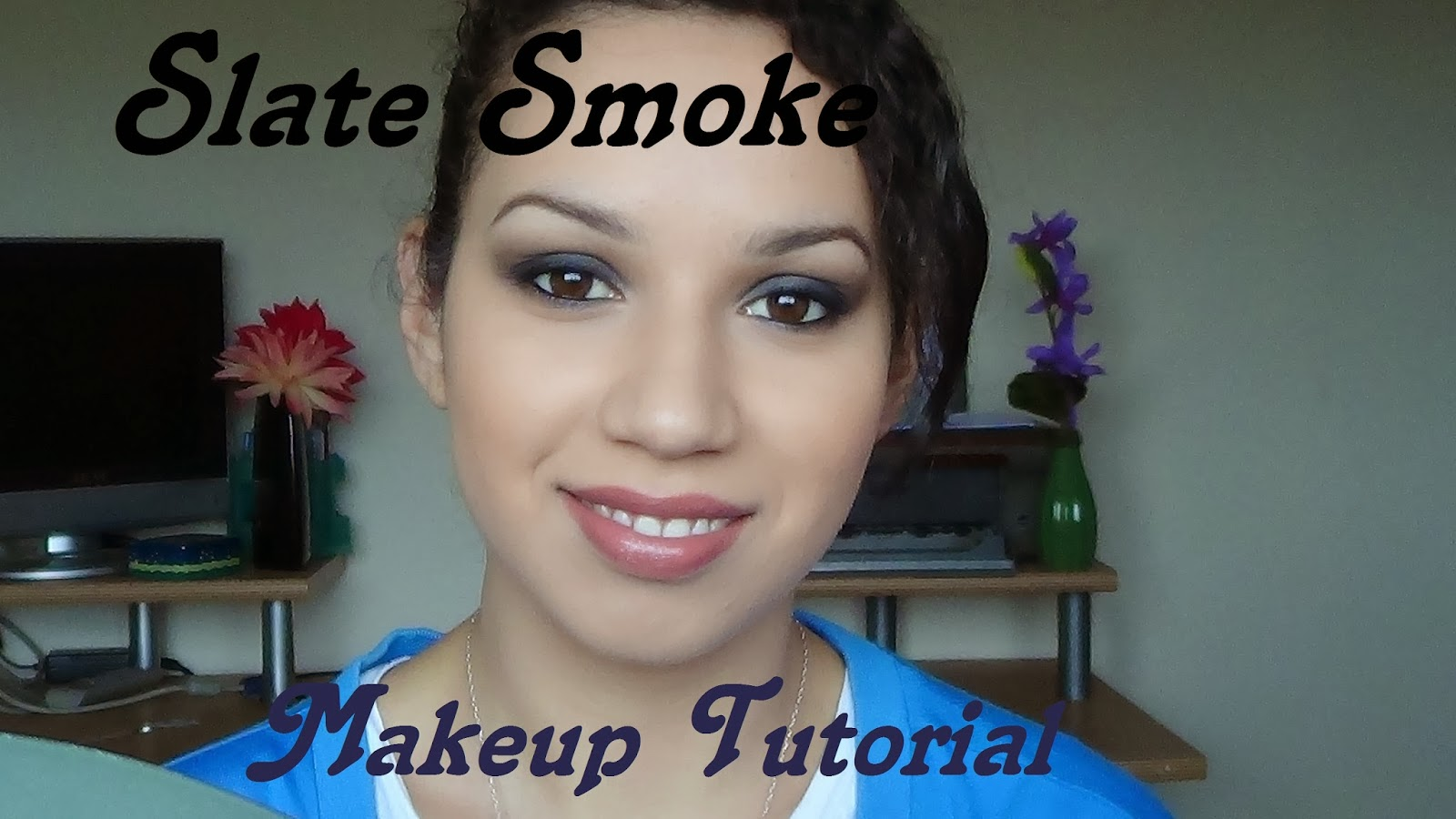 'Slate Smoke' smokey-eyes & full face tutorial