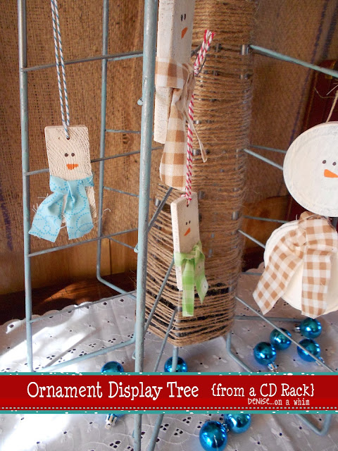 repurosed cd rack Christmas tree | denise... on a whim