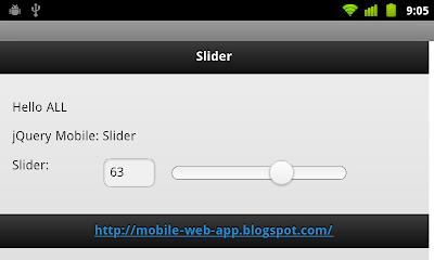 jQuery Mobile: Slider