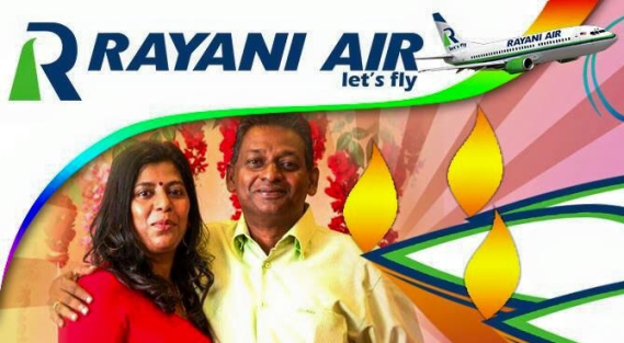 Malaysia's first Islamic airline, Rayani Air, is the work of noted Hindu entrepreneurial couple - Ravi Alagendrran and his wife Karthiyani Govindan.  Even the brand name Rayani Air is a combination of the first names of its founders – Ra + yani.