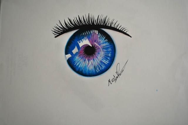 تعلم رسم العين للمبتدئين
