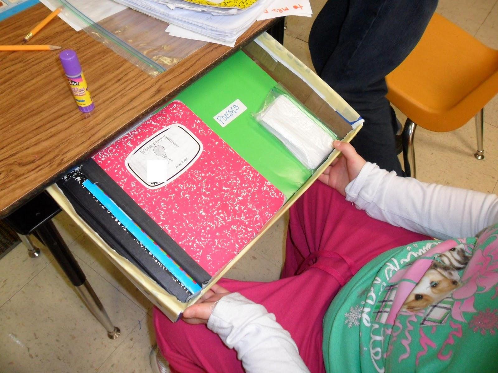 Organized student desk viewing gallery - School desk organization ideas ...