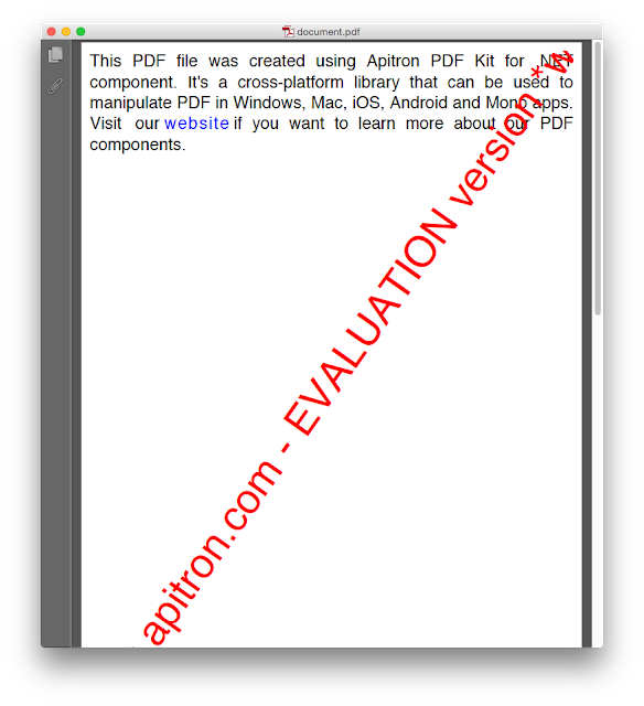 Pic. 4 Resulting PDF document ( OS X )