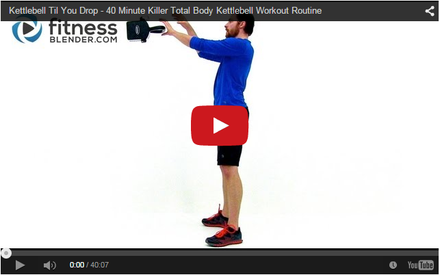 40 Minute Killer Total Body Kettlebell Workout Routine