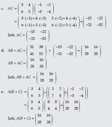 Contoh Soal Dan Pembahasan Matriks Matematika Anang