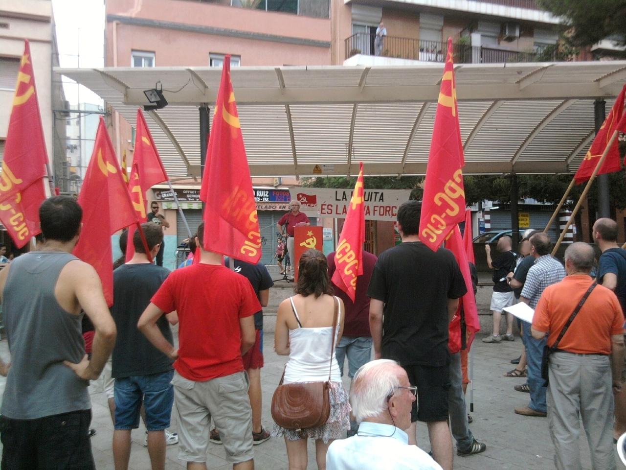Mitin del PCPC y los JCPC el 11 de septiembre para la fiesta nacional de Cataluña Foto0160