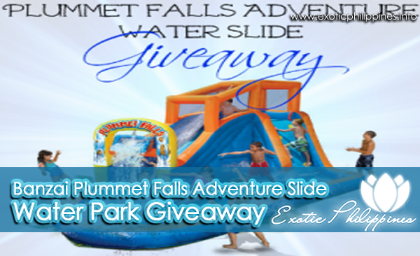 Banzai Plummet Falls Adventure Slide Water Park Giveaway