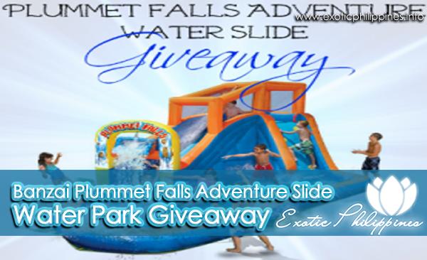 Banzai Plummet Falls Adventure Slide Water Park Giveaway