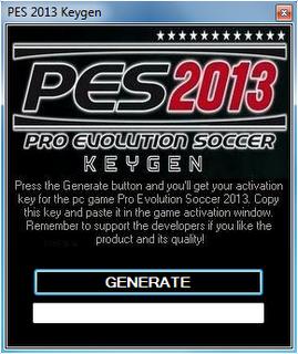 crack for pro evolution soccer 2013