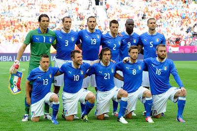 Italy Football Team Euro 2012