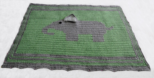 Knit Pattern Elephant Baby Blanket Ipaafo For