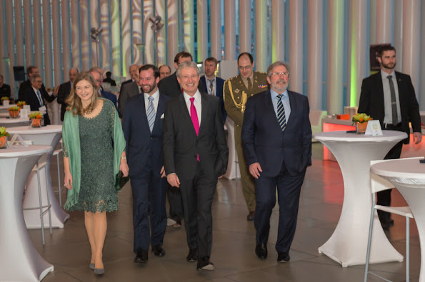 Hereditary Duke Guillaume of Luxembourg and Crown Duchess of Luxembourg Stephanie attended the academic session of the 50th anniversary.