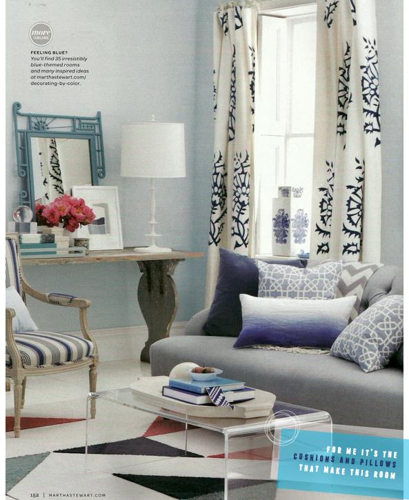 Martha Stewart Living Blue White Decorating Ideas Bright Bazaar By Will Taylor