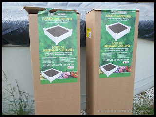 PVC raised garden boxes in cartons