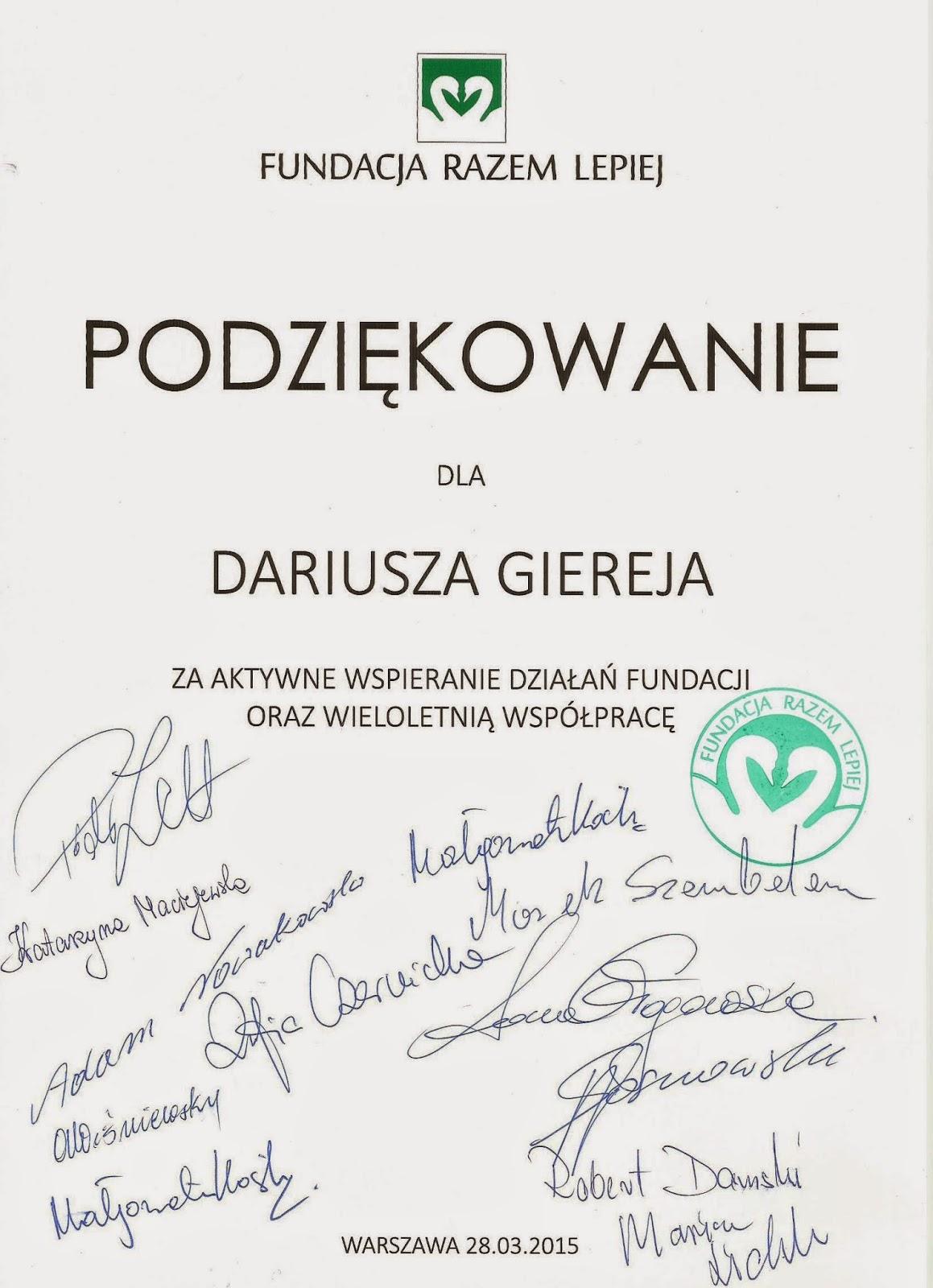 foto, (print screen) Dariusz Marek Gierej