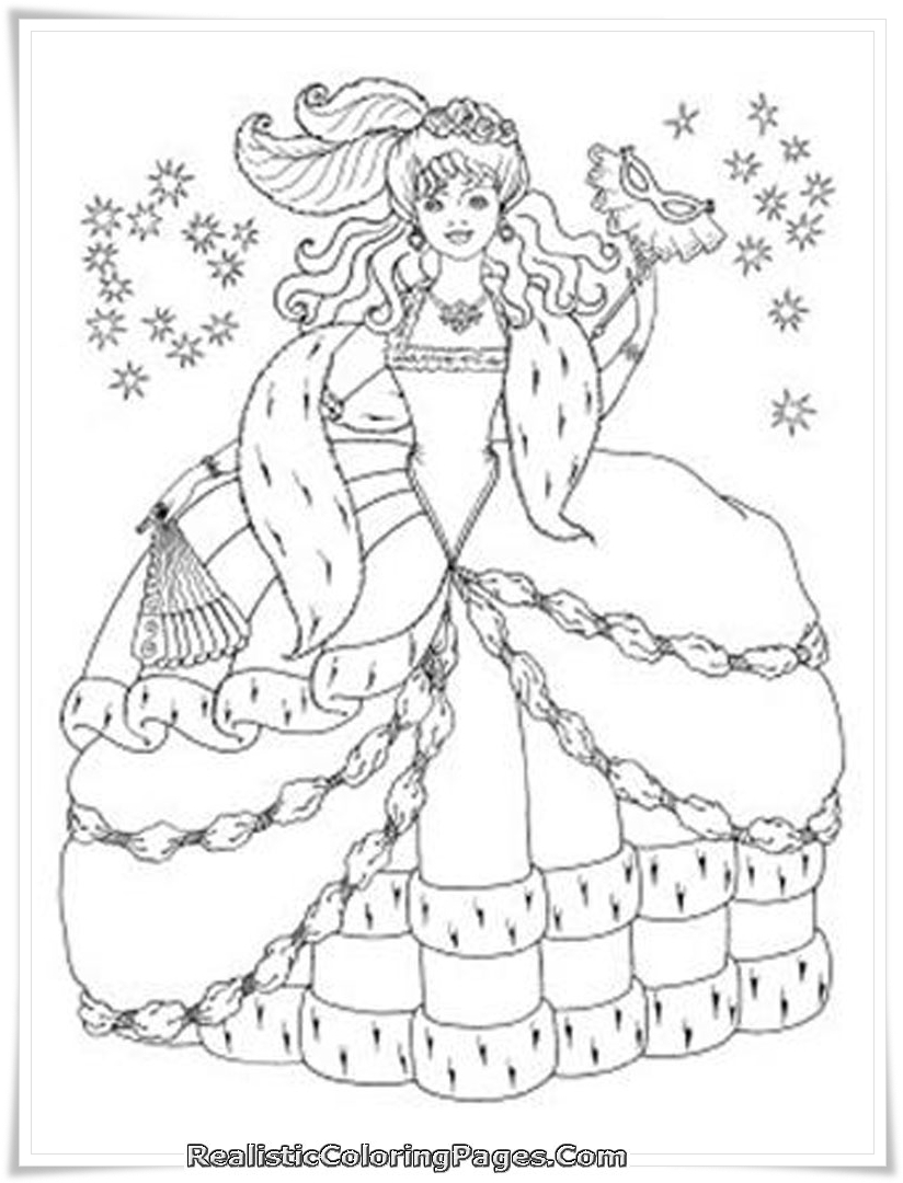 barbie and the diamond castle coloring pages for girls realistic