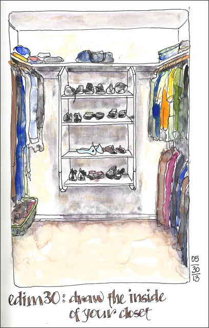 Good EDiM #30: Draw The Inside Of Your Closet