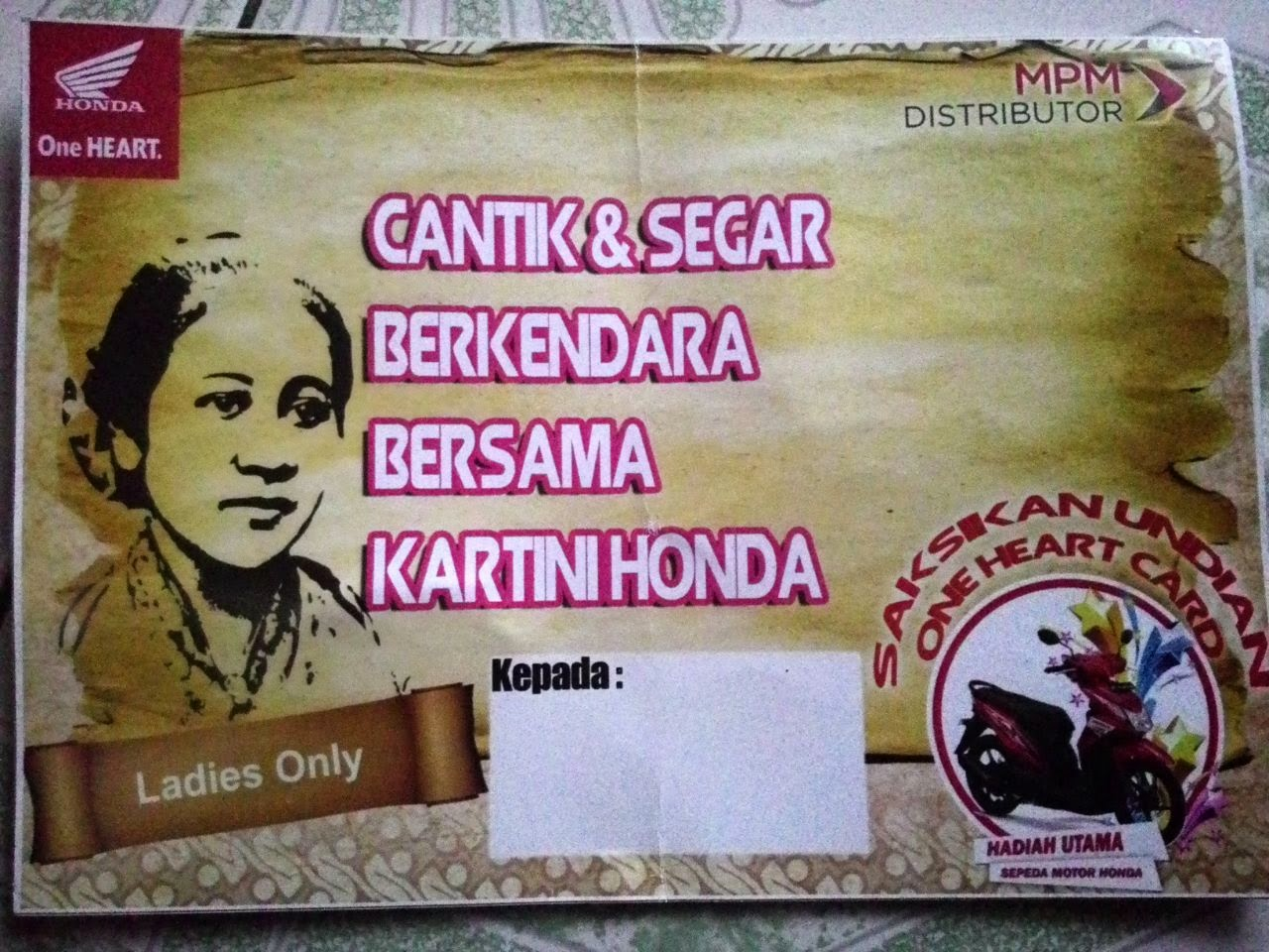 Kartinian ala Honda Motor bersama ladies bikers