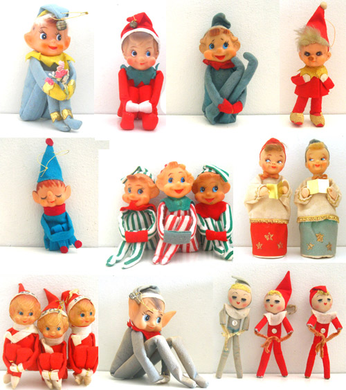 vintage collection christmas knee hugger pixie elves