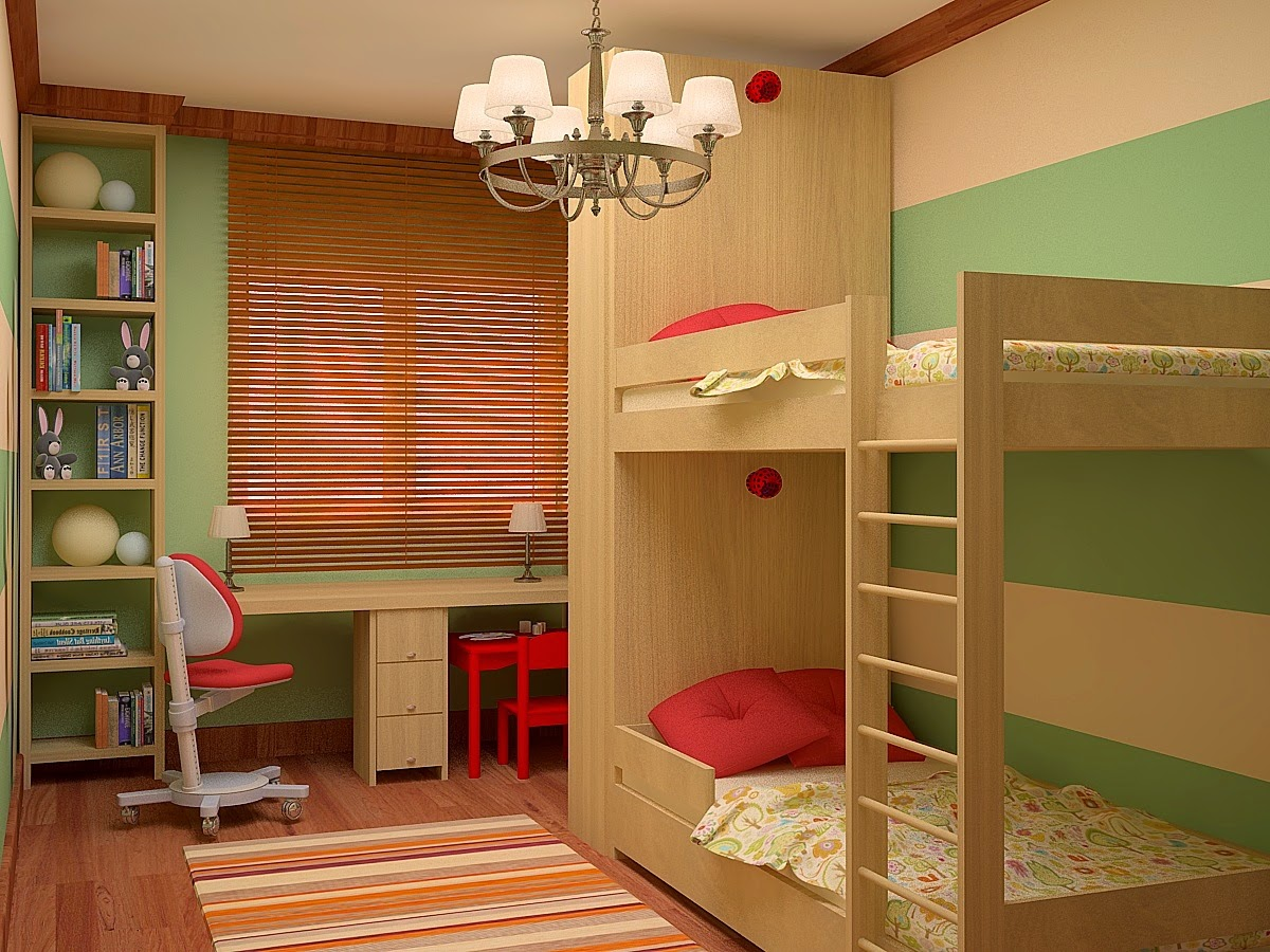 Kids room design for boy and girl - Kids Room Ideas Bunk Bed For Two Kids