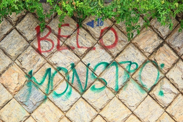 Graffiti in Altamira, 2014: Belo Monstro.