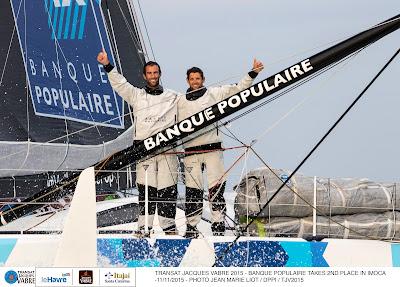 Armel Le Cléach et Erwan Tabarly, 2e de la Transat Jacques Vabre !