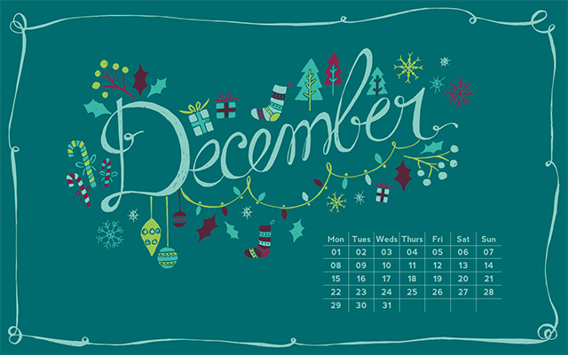 It's Not Serious!: Giveaway - Free December Wallpaper!