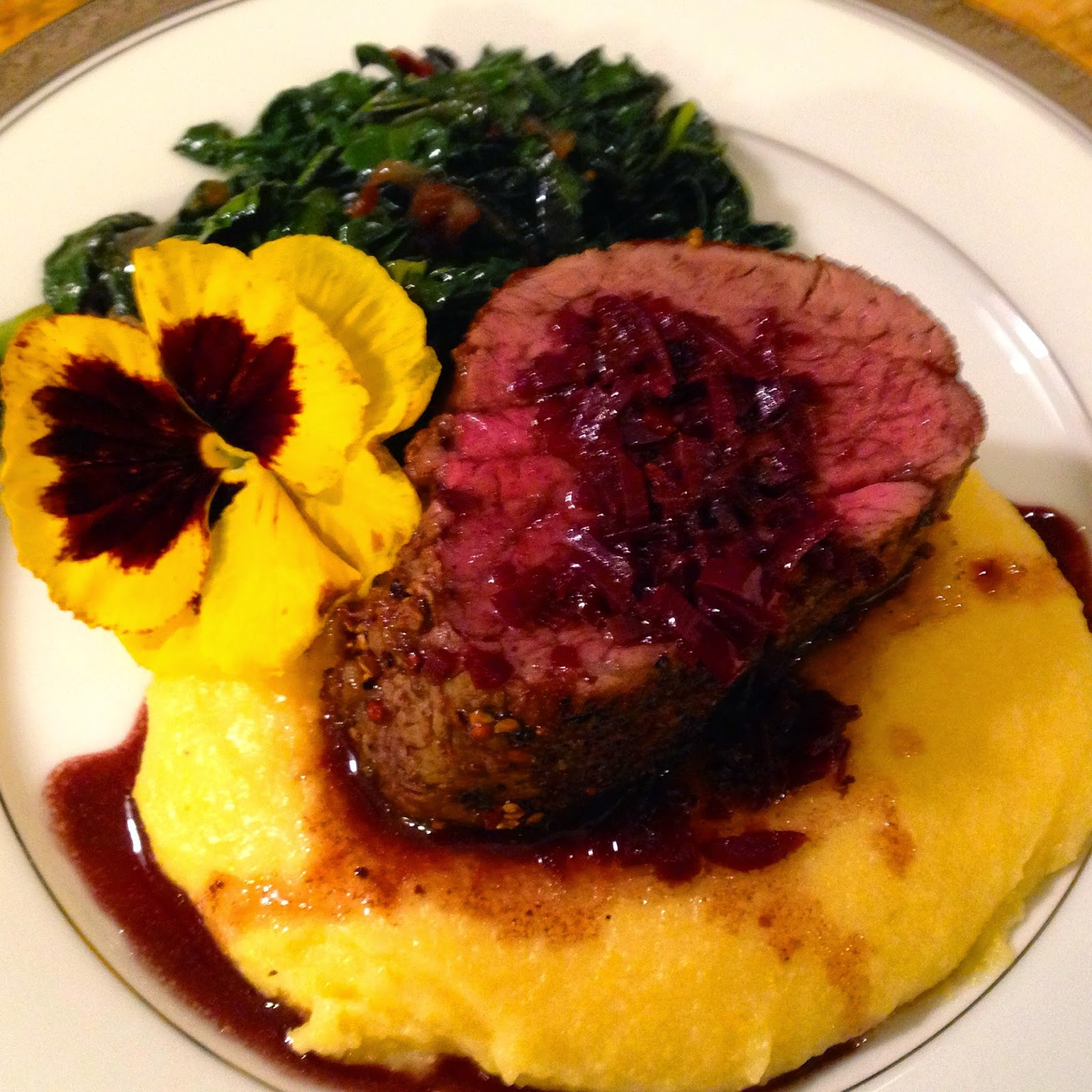 Pan-Seared Beef Tenderloin With Balsamic Onions And Port Sauce Recipes ...