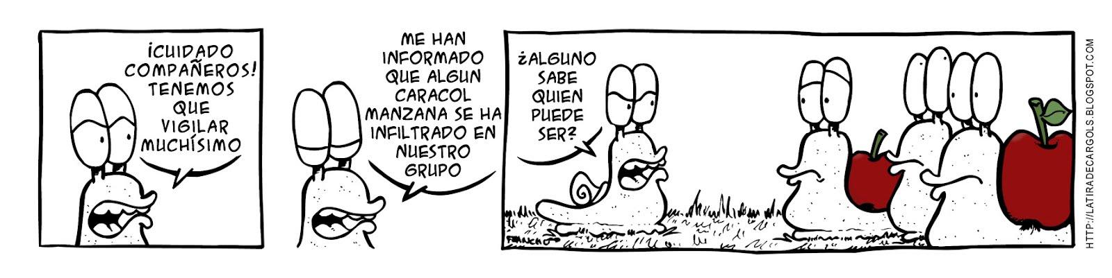 Tira comica 132 del webcomic Cargols del dibujante Franchu de Barcelona