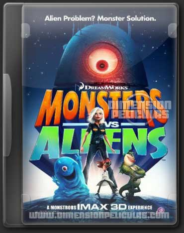 Monsters Vs Aliens (BRRip 3D FULL HD Inglés Subtitulada)